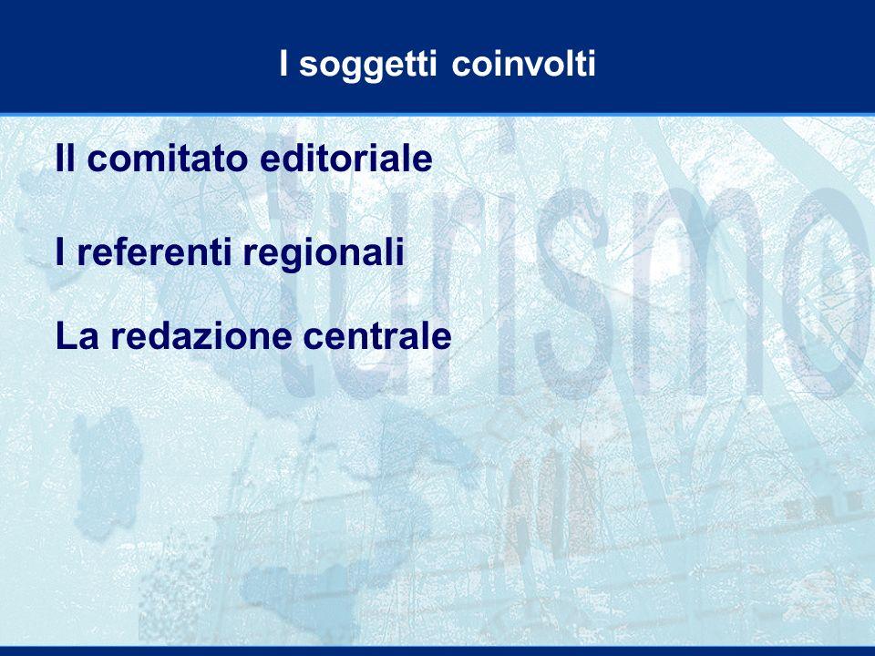 I soggetti coinvolti Il comitato editoriale I referenti regionali La redazione centrale