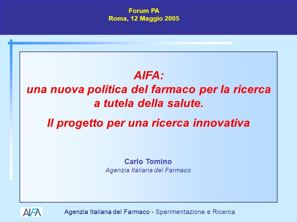 Agenzia Italiana del Farmaco - Sperimentazione e Ricerca La ricerca di nuovi farmaci è un processo difficile, lungo e delicato governato da molte regole per la tutela dei soggetti