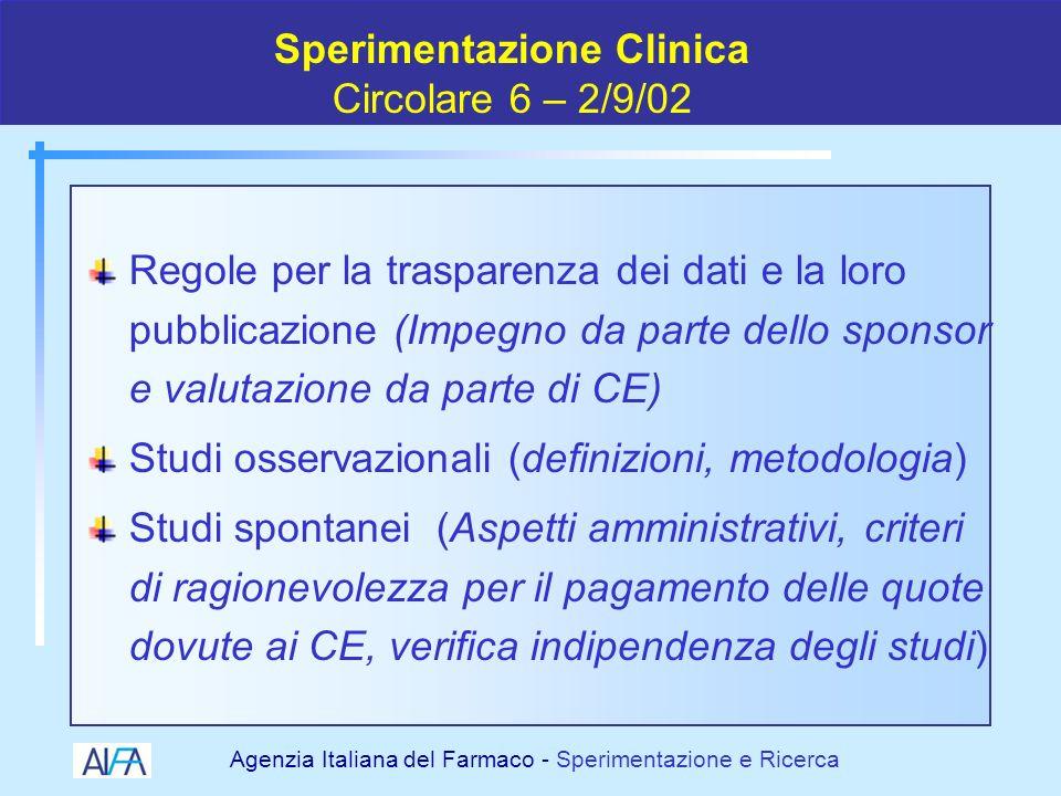 Agenzia Italiana del Farmaco - Sperimentazione e Ricerca 19982000 2001 2002 2003 2004 I cambiamenti normativi della SC 2005 USOUSO COMPASSCOMPASS