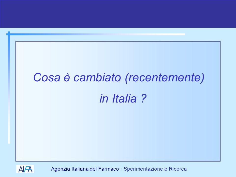Agenzia Italiana del Farmaco - Sperimentazione e Ricerca 19982000 2001 2002 2003 2004 I cambiamenti normativi della SC 2005 COMITATICOMITATI ETICIETICI