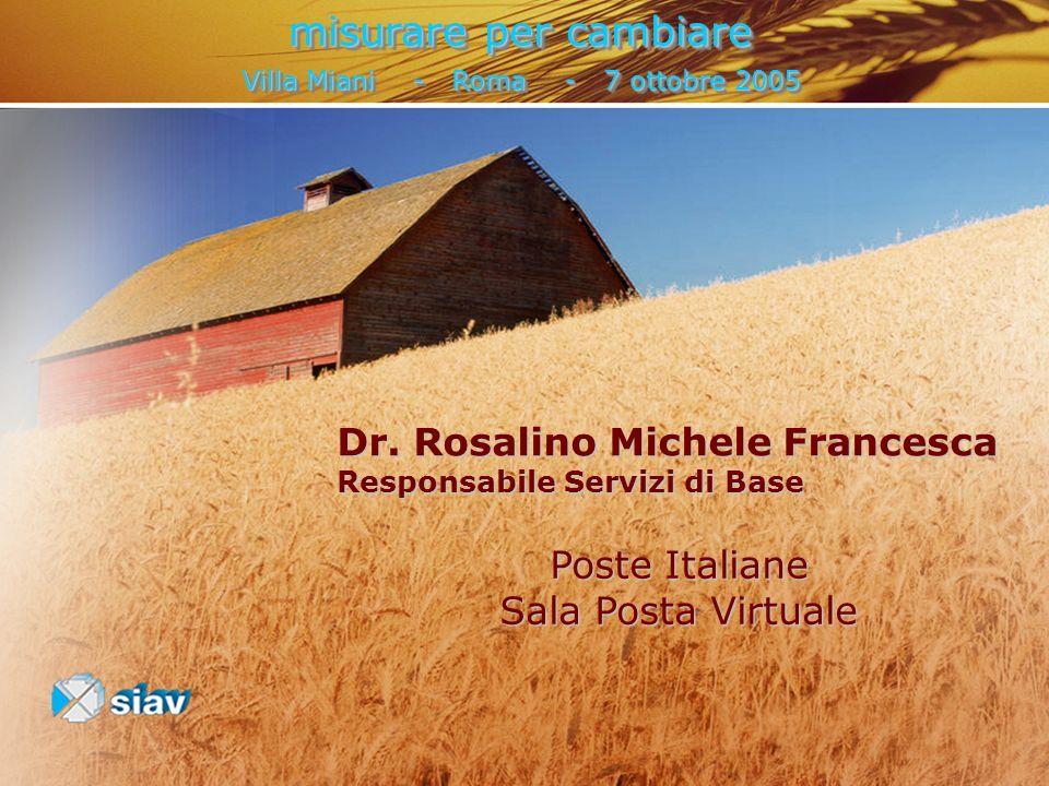 misurare per cambiare Villa Miani - Roma - 7 ottobre 2005 misurare per cambiare Villa Miani - Roma - 7 ottobre 2005 Dr. Rosalino Michele Francesca Res