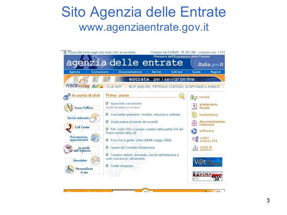 3 Sito Agenzia delle Entrate www.agenziaentrate.gov.it