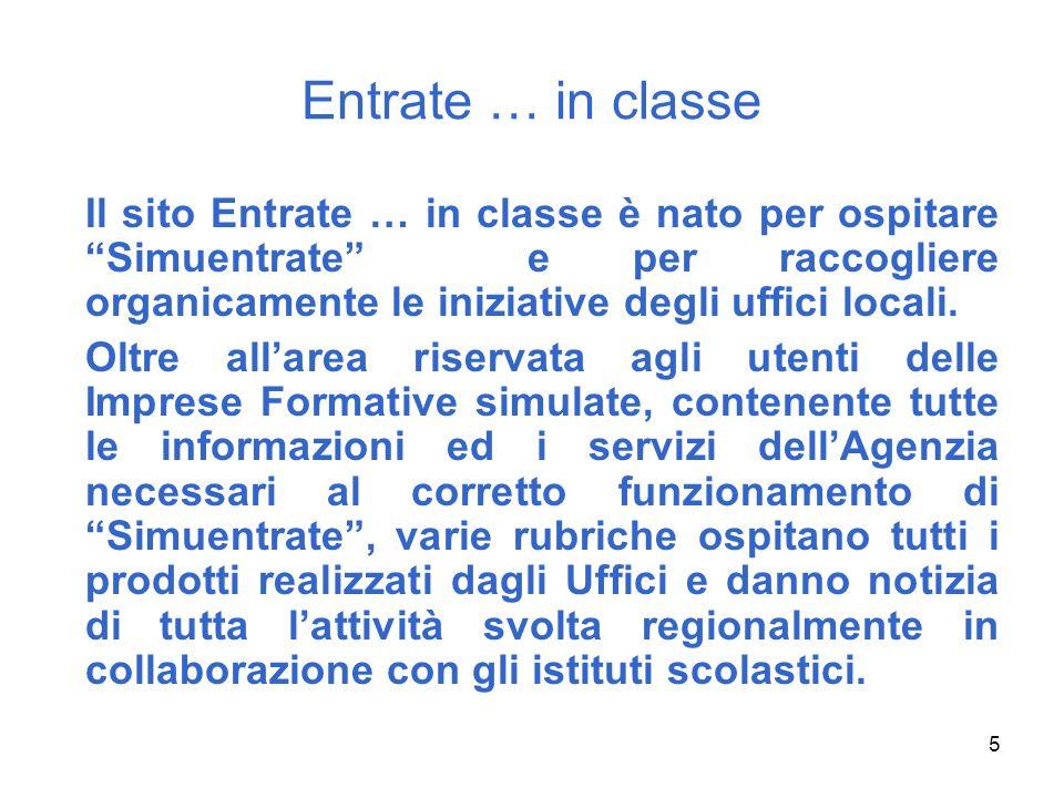 16 Entrate … in classe Dalle Regioni Un esempio: il Lazio