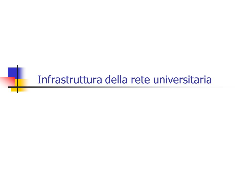 Progetto GARR-B per lUniversità di Palermo