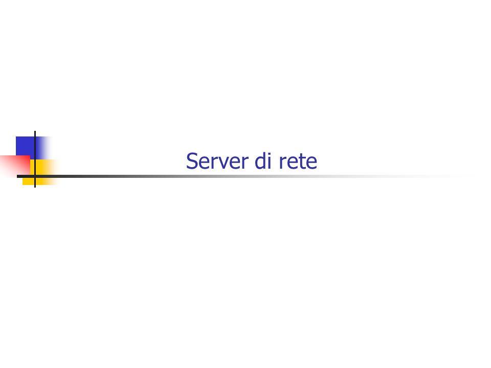 Server di rete attualmente gestiti dal Centro Universitario di Calcolo n.