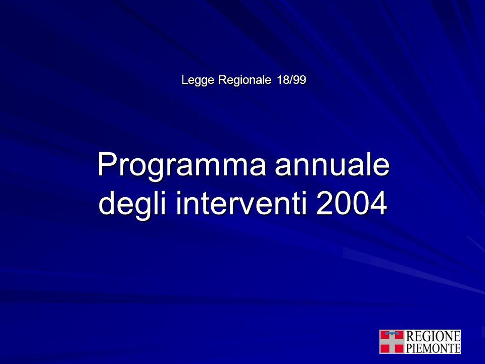 Programma annuale degli interventi 2004 Legge Regionale 18/99