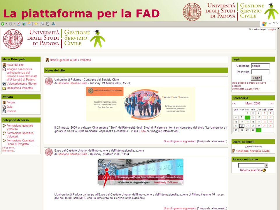 La piattaforma per la FAD