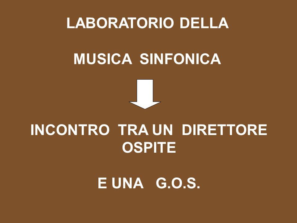 LABORATORIO DELLA MUSICA SINFONICA INCONTRO TRA UN DIRETTORE OSPITE E UNA G.O.S.