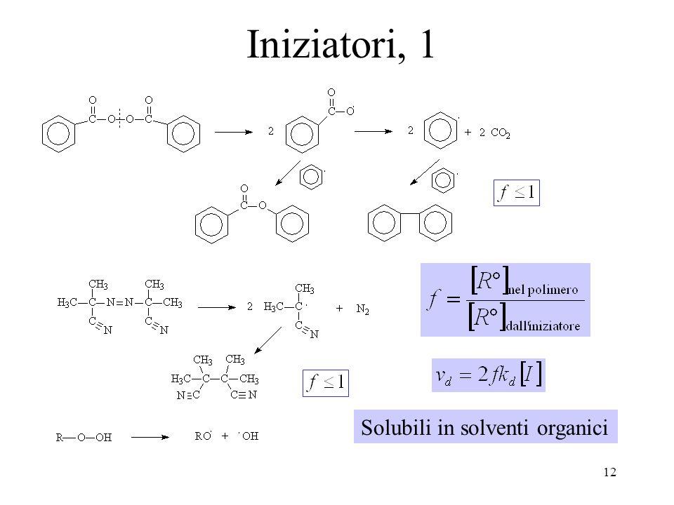 12 Iniziatori, 1 Solubili in solventi organici