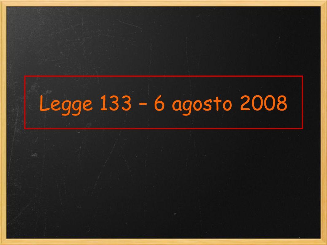 Legge 133 – 6 agosto 2008