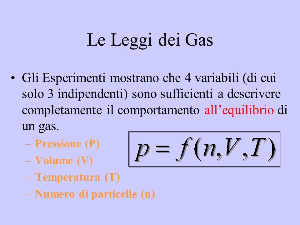 Il comportamento descritto da tre coordinate termodinamiche di una quantità stabilita di gas perfetto è caratterizzato da una regola: solo due coordinate su tre possono essere fissate a piacere, in quanto la terza viene determinata automaticamente dal gas stesso.