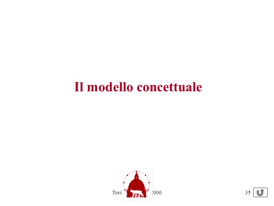 Torino 21 giugno 200035 Il modello concettuale