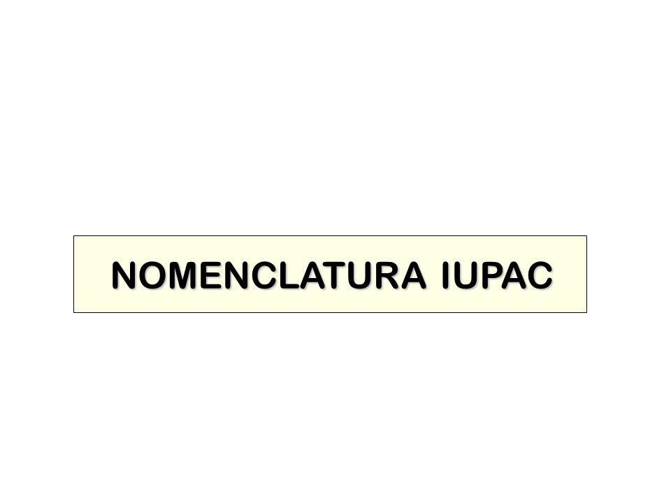 NOMENCLATURA IUPAC NOMENCLATURA IUPAC