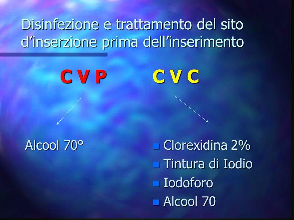 Sostituzione del catetere CVP 72/96 ore CVC non è necessario cambio di routine