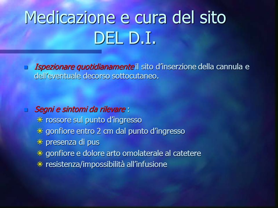 Disinfezione e trattamento del sito dinserzione prima dellinserimento CVC n Disinfezione con tecnica centrifuga n Lasciare in sito lantisettico per ci