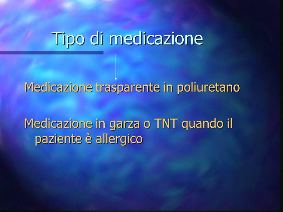 Medicazione e cura del sito n La medicazione deve essere sostituita ogni volta che è umida, staccata o sporca n Annotare la data desecuzione