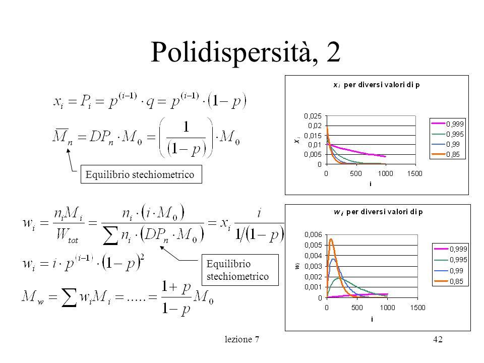 lezione 742 Polidispersità, 2 Equilibrio stechiometrico