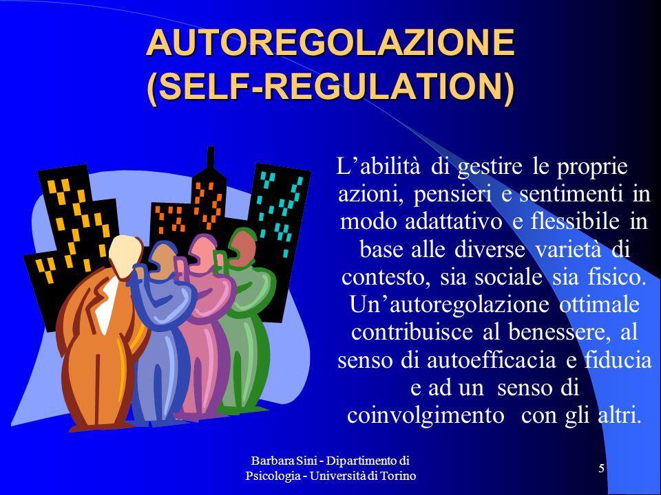 Barbara Sini - Dipartimento di Psicologia - Università di Torino 6 Competenza emotiva e autocoscienza (self-awarness) Sé soggettivoSé oggettivo