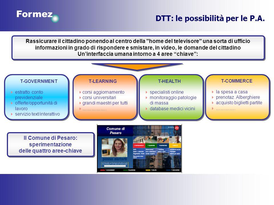 Formez DTT: le possibilità per le P.A. Rassicurare il cittadino ponendo al centro della