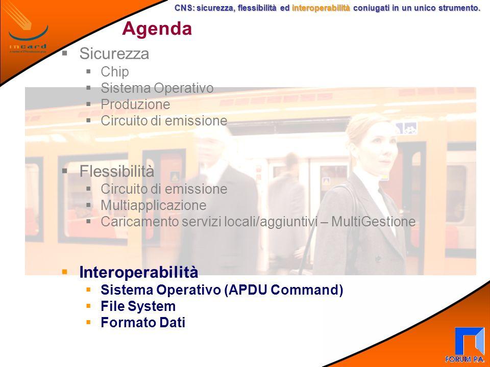CNS: sicurezza, flessibilità ed interoperabilità coniugati in un unico strumento. CNS: sicurezza, flessibilità ed interoperabilità coniugati in un uni