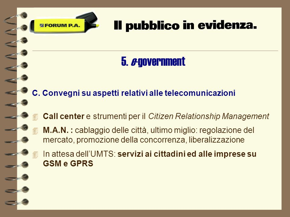 5. e-government C.