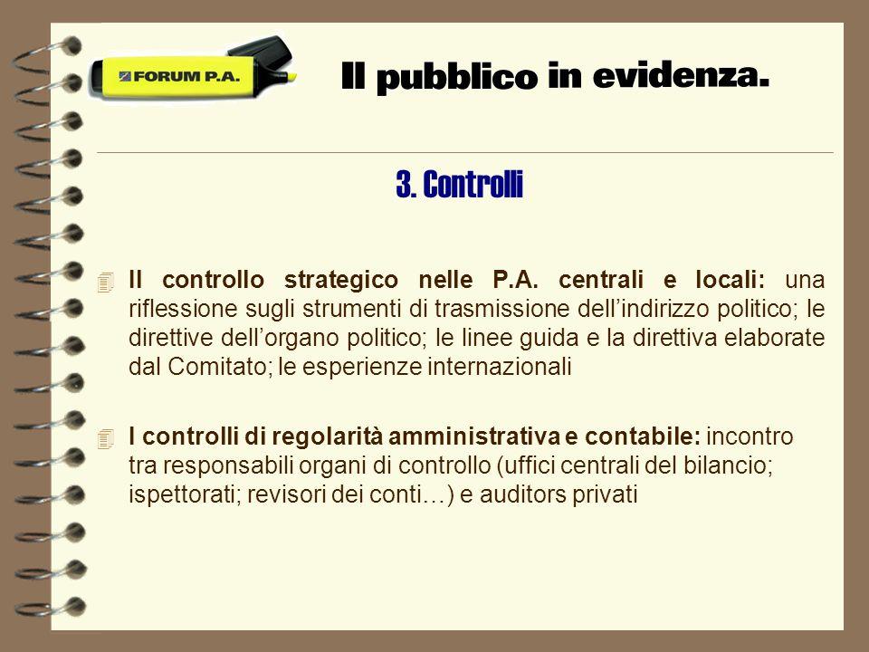 3. Controlli 4 Il controllo strategico nelle P.A.