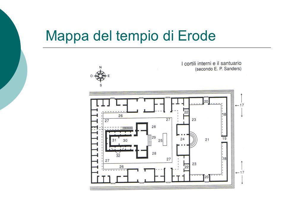 Mappa del tempio di Erode