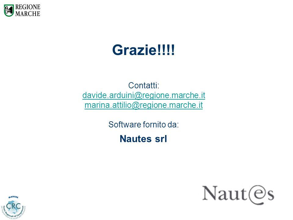 21 Grazie!!!! Contatti: davide.arduini@regione.marche.it marina.attilio@regione.marche.it Software fornito da: Nautes srl