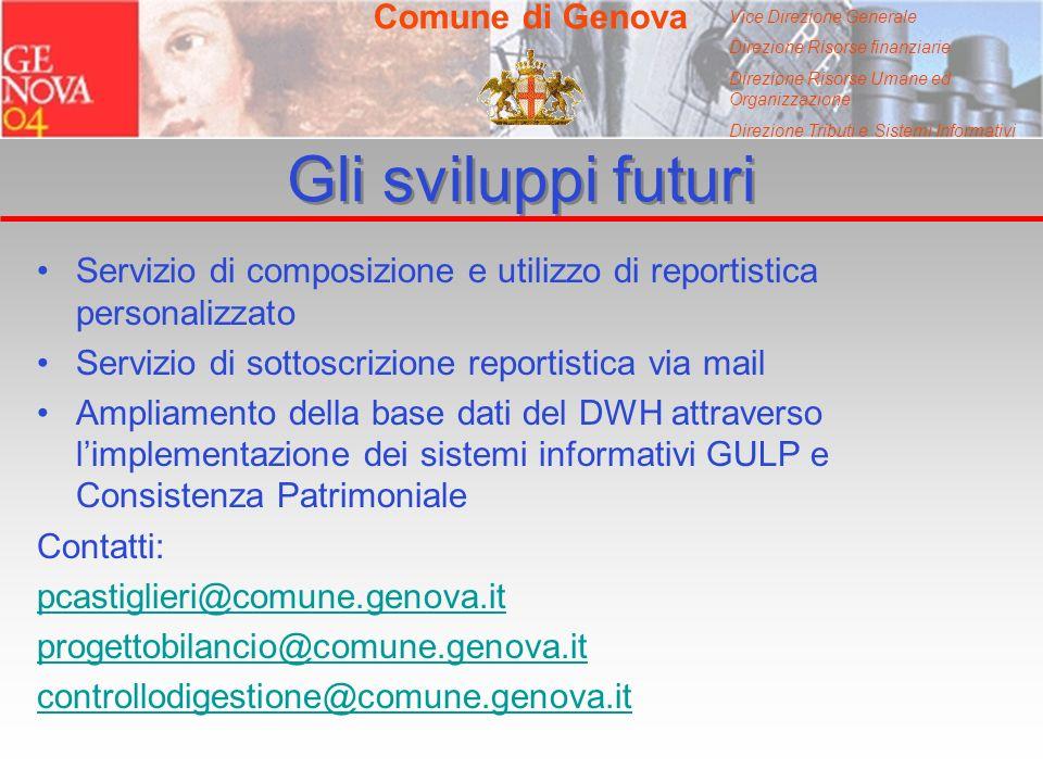 Vice Direzione Generale Direzione Risorse finanziarie Direzione Risorse Umane ed Organizzazione Direzione Tributi e Sistemi Informativi Comune di Geno