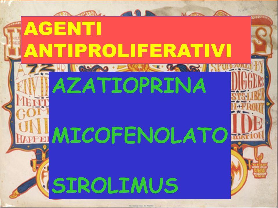 Riassunto complicanze potenziali degli inibitori delle calcineurine CyA FK506 Nefrotossicità +++ +++ Neurotossicità + +++ Intoll. Glucidica + +++ Irsu