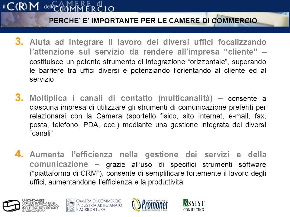 pag.11 ÀSSIST – CRM per le Camere di Commercio 3.