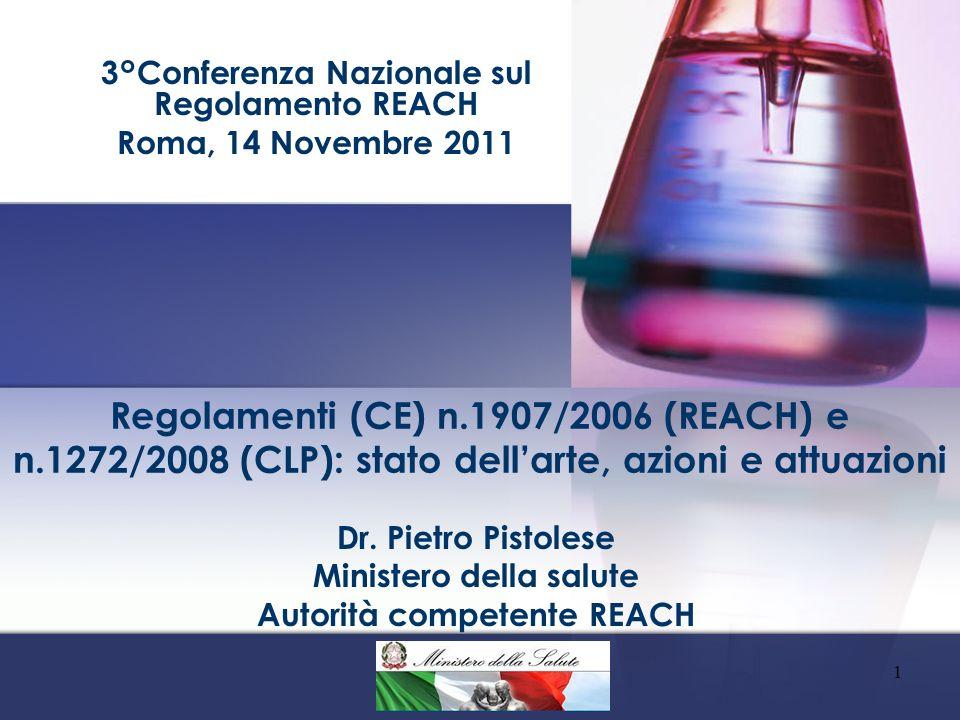 ART-123 DEL REACH Le autorità competenti degli S.M.