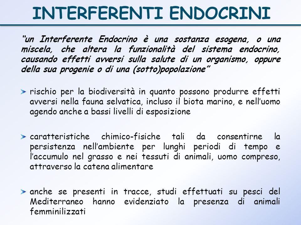 un Interferente Endocrino è una sostanza esogena, o una miscela, che altera la funzionalità del sistema endocrino, causando effetti avversi sulla salu