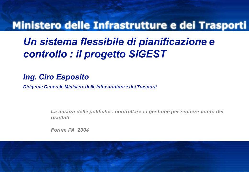 © Copyright IBM Corporation 2004 Servizio di controllo interno Un sistema flessibile di pianificazione e controllo : il progetto SIGEST Ing. Ciro Espo