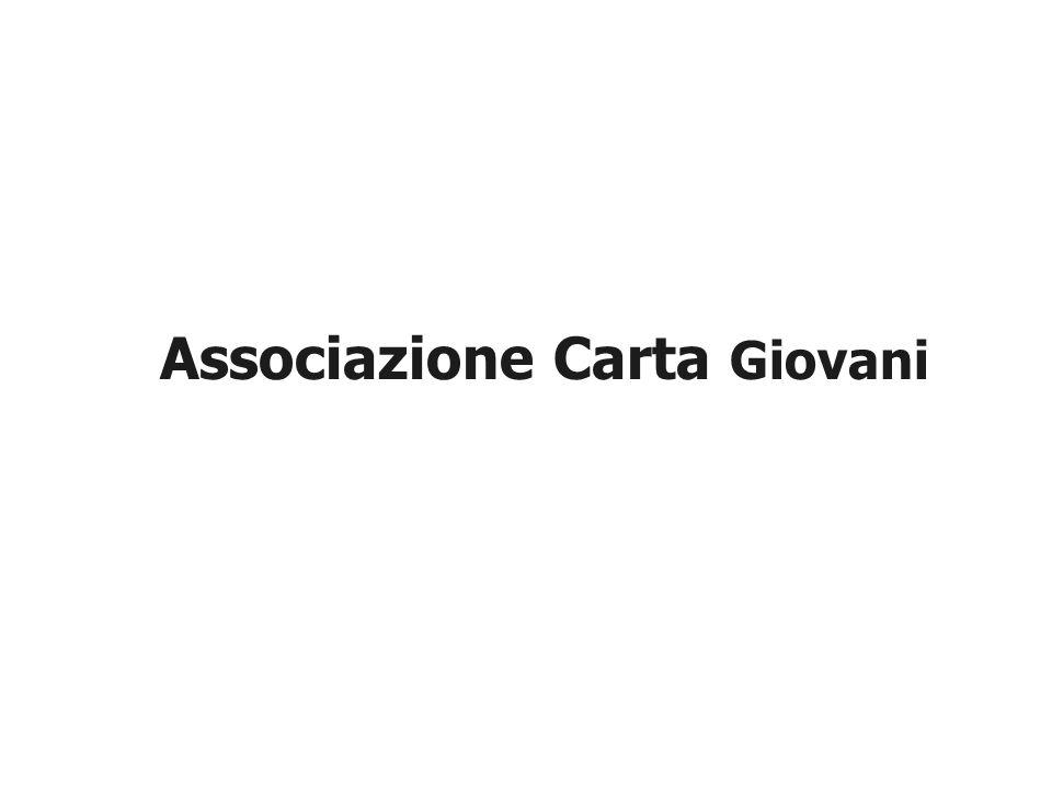 LAssociazione Carta Giovani è una associazione con finalità assistenziale senza fini di lucro, riconosciuta con decreto del Ministero dellInterno n.