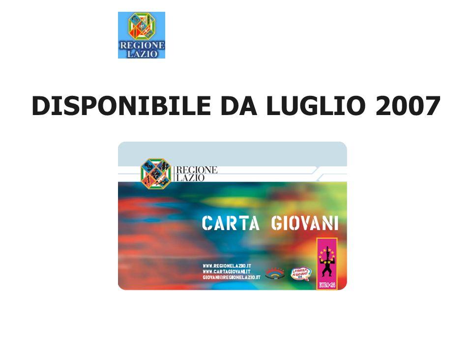 DISPONIBILE DA LUGLIO 2007