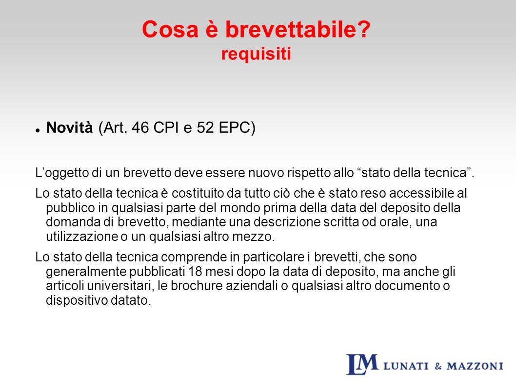 Inventive Step / Attività inventiva (Art.