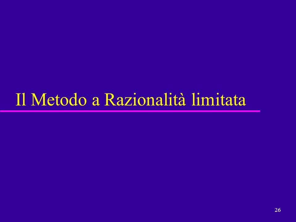 26 Il Metodo a Razionalità limitata