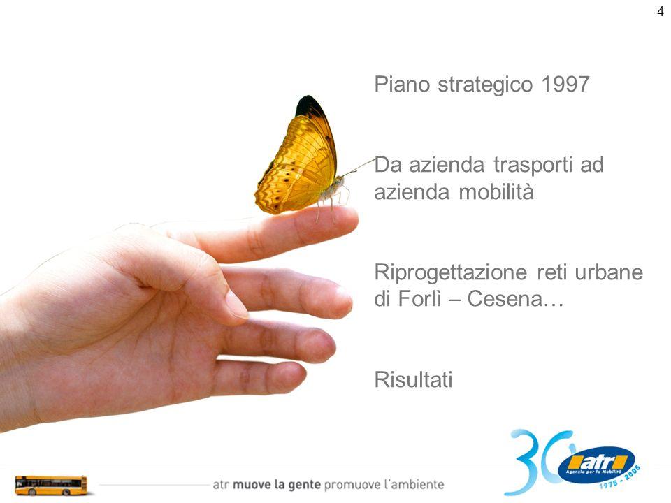 5 Piano strategico 2003 – 2007 La nascita dellAgenzia Levoluzione La diversificazione