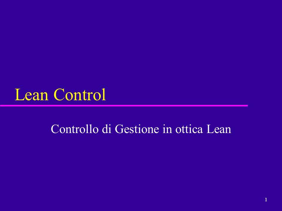 1 Lean Control Controllo di Gestione in ottica Lean