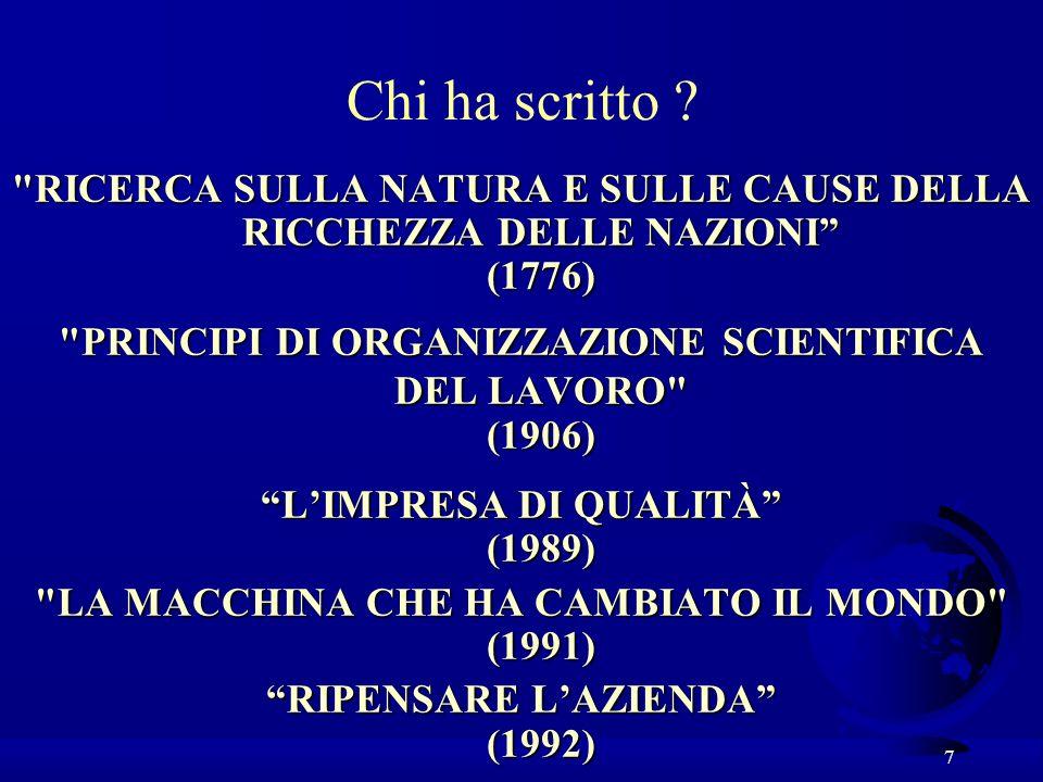 8 Nota bene F La scuola italiana, parte dalle origini (come i CV: nato a, scuole a, laurea a, impiegato a,..) ed è sempre … ….