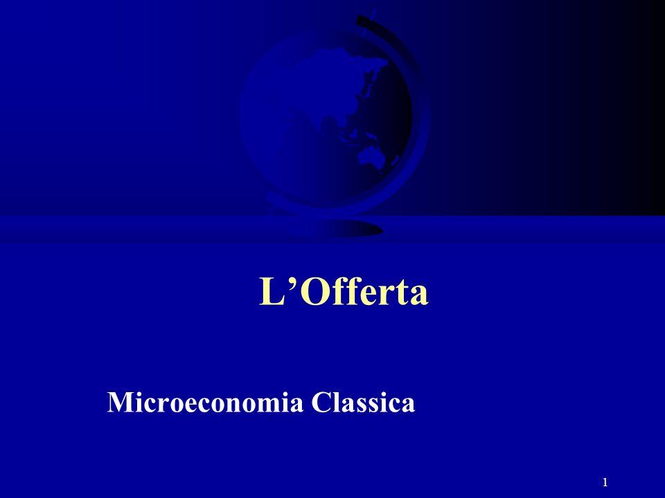 1 LOfferta Microeconomia Classica