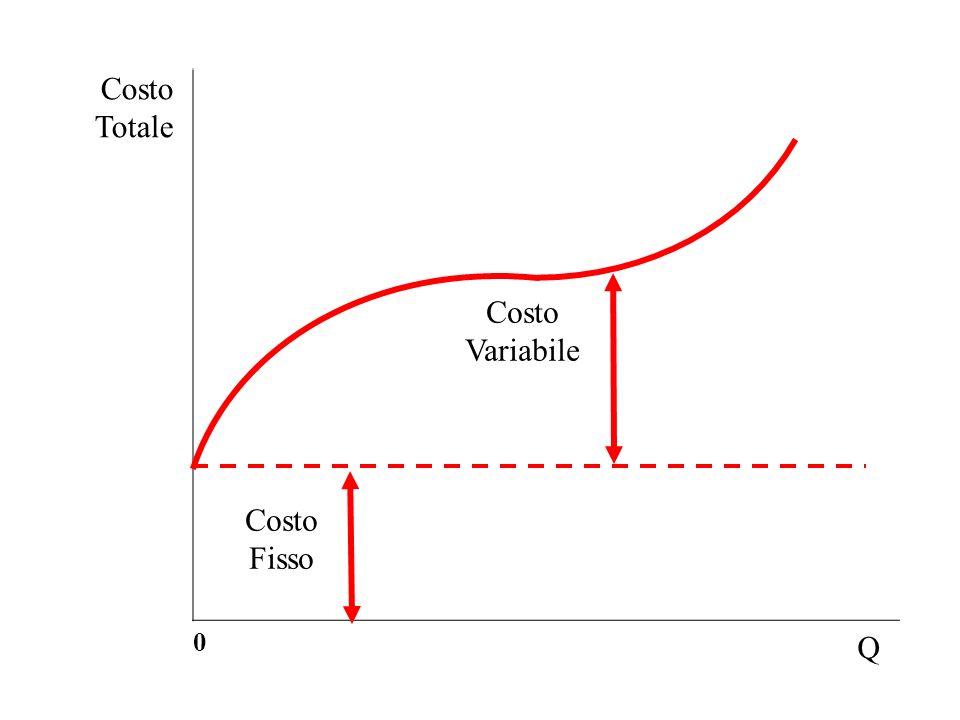 Costo Totale 0 Q Costo Fisso Costo Variabile