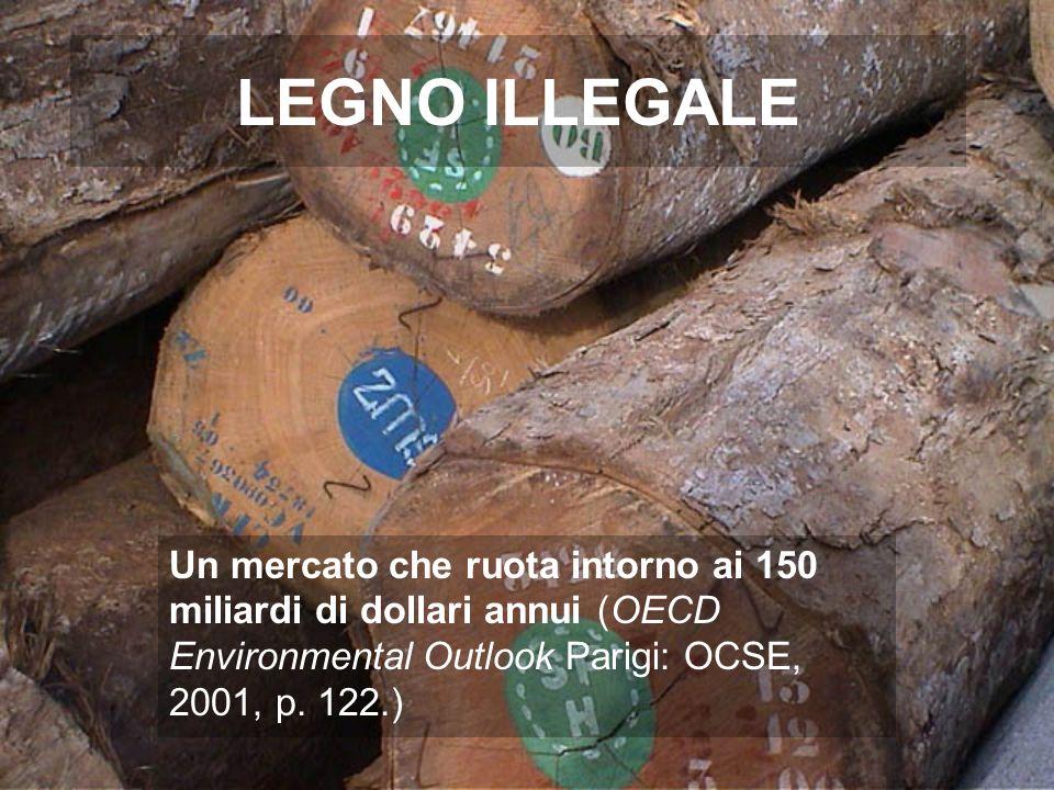 Legno illegale L80 % del legno Estratto nellAmazzonia brasiliana (IBAMA)