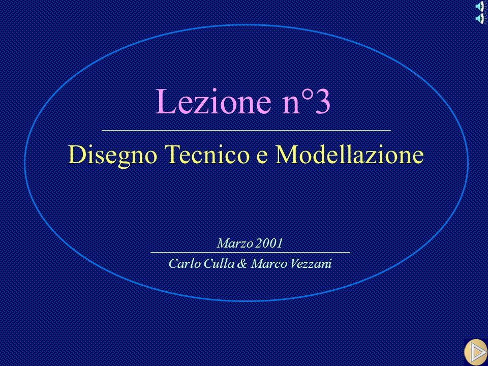 Lezione n°3 Disegno Tecnico e Modellazione Carlo Culla & Marco Vezzani Marzo 2001