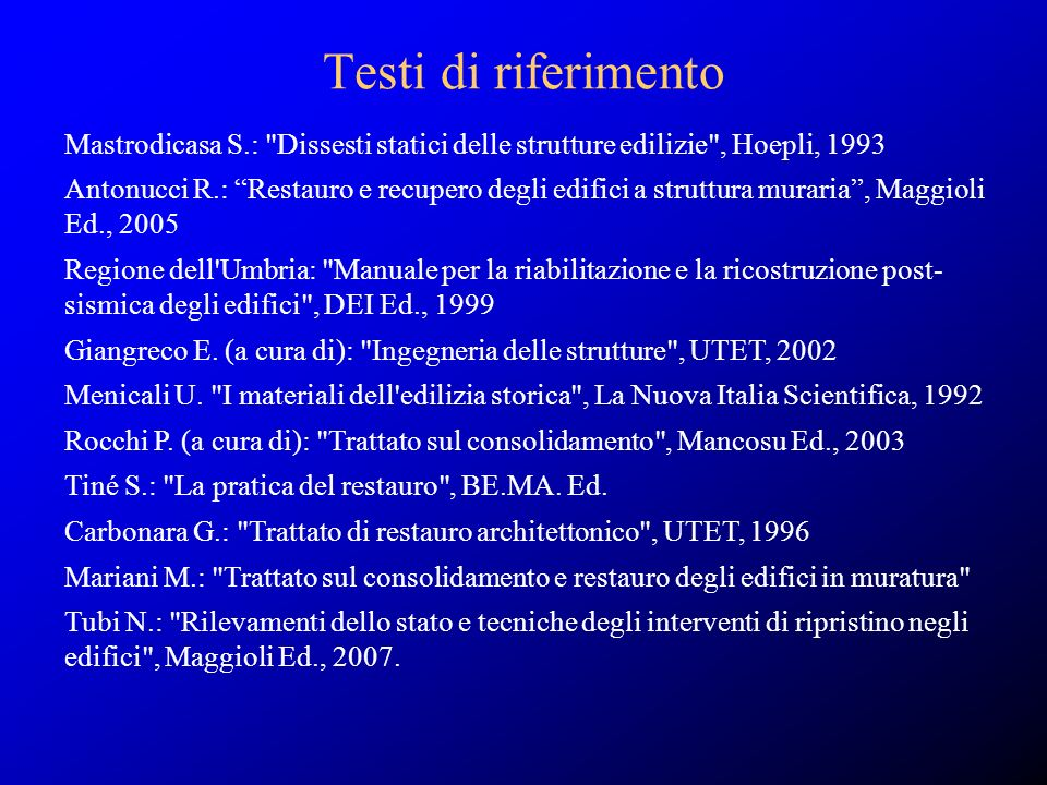 Mastrodicasa S.: