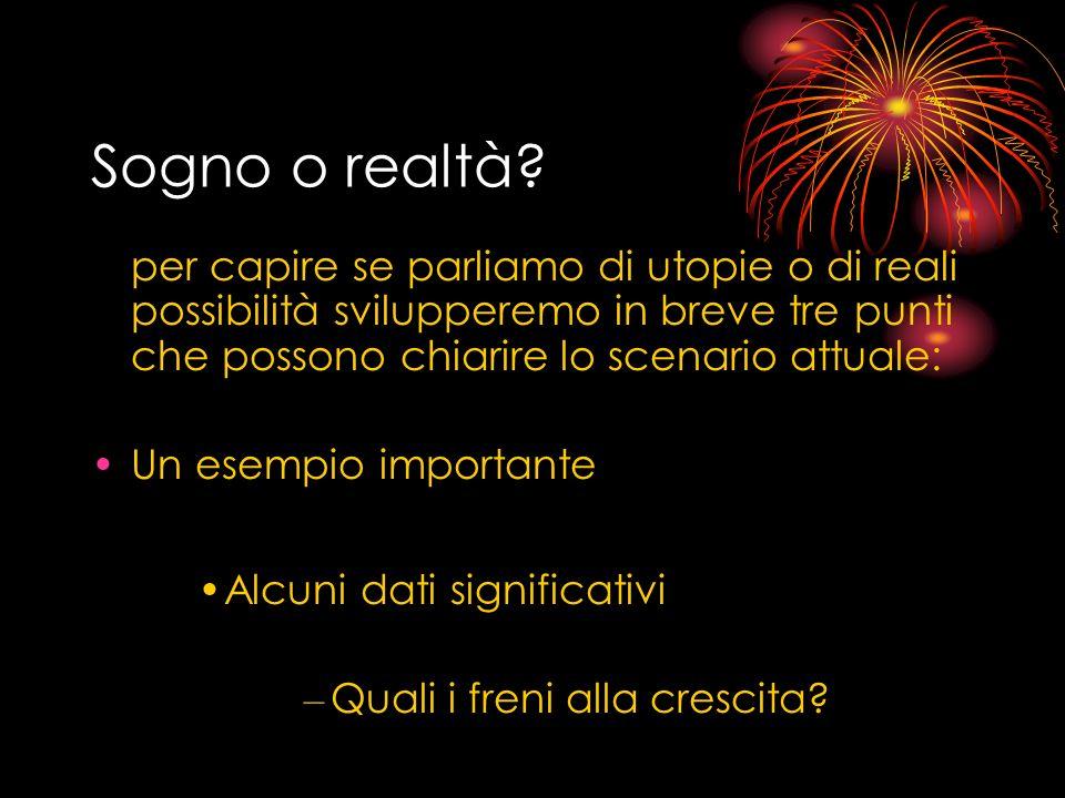 Sogno o realtà.