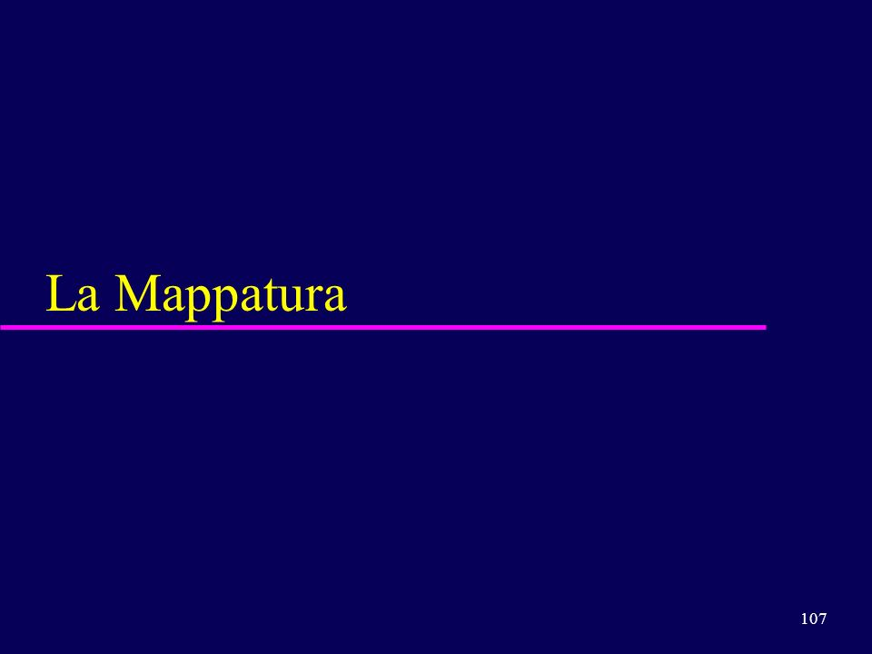 107 La Mappatura
