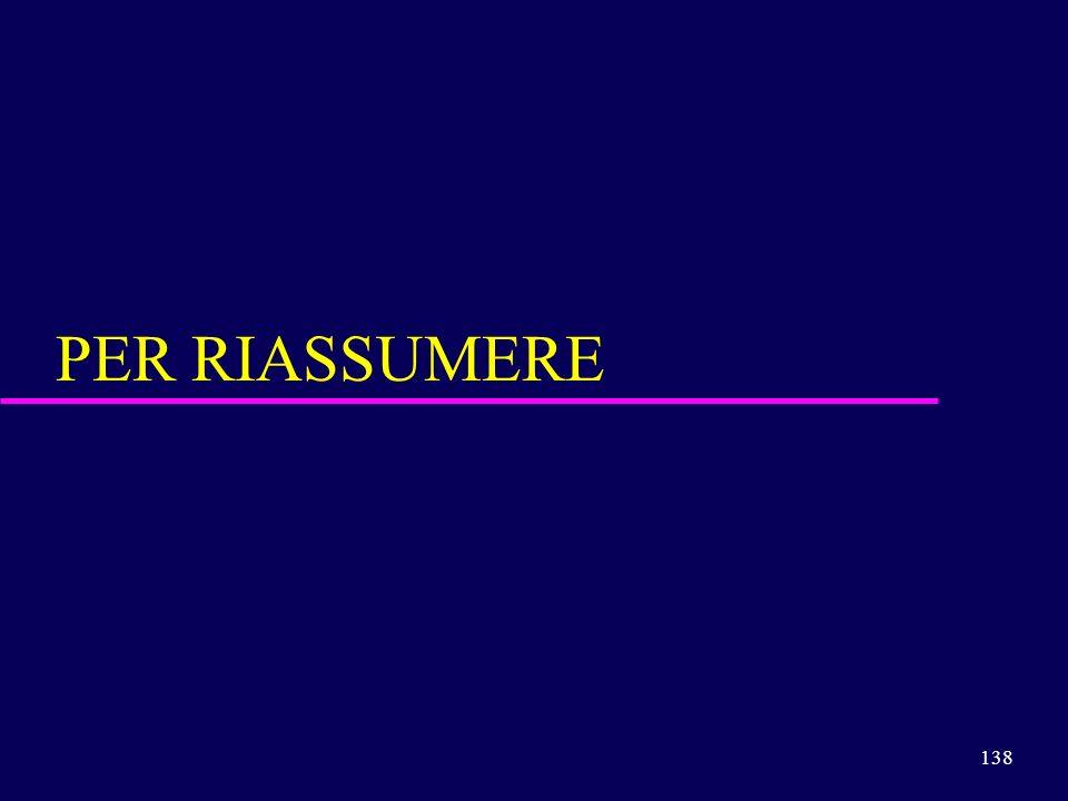 138 PER RIASSUMERE