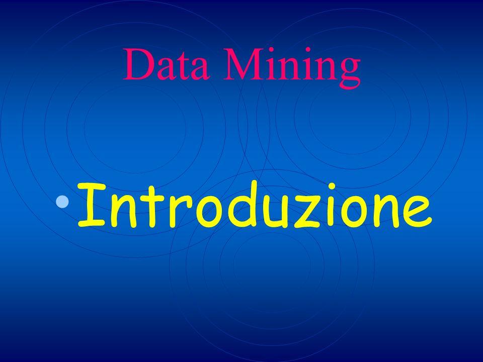 Perchè servono i Data Mining Man mano che si estraggono dai dati le informazioni utili per lazienda diminuisce il volume dei dati da trattare ed aumenta il valore che questi hanno per lazienda